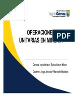 Semana 7, Operaciones Unitarias en Minería