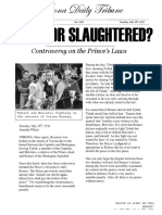 exiled or slaughtered editorial