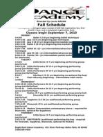 ERDA Fall Schedule[1]