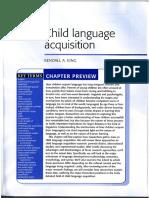 Child Language Acquisition