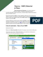 Excel MRP Macros