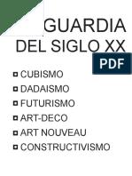 Vanguardia Del Siglo Xx
