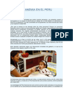 La Anemia en El Peru