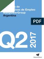 Encuesta de Expectativas de Empleo Manpower Group Argentina