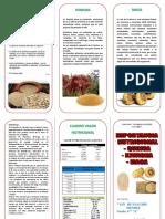 TRIPTICO Valor Nutricional