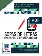 Sopas de Letras en papel y código QR