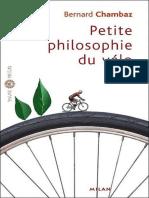 Bernard Chambaz Petite Philosophie Du Vélo