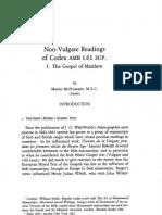 Non-Vulgate Readings of Codex AMB I.61 SUP. I. the Gospel of Matthew by Martin McNAMARA, M.S.C.