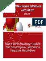03 Modelo de Seleccion Personal de Operacion de Planta de Acido Sulfurico Mejillones