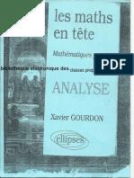 Les Maths en Tete Analyse