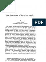 The Destruction of Jerusalem Sunday by Amnon LINDER