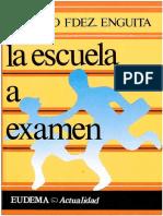 La Escuela a Examen Ed 1991-Libre