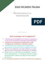Metodología de La Investigación URP-2016