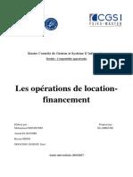 Les opérations de location-financement