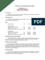 Western Indiana Energy REMC - October 1, 2014 Large Power Rates