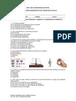 Evaluación Diagnóstica de Ciencias II