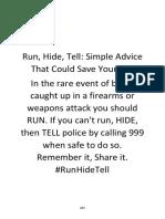 Run, Hide, Tell