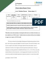 observation report 2