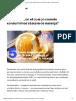 ¿Que Pasa Con El Cuerpo Cuando Consumimos Cáscara de Naranja_ – Hoy Aprendí Salud