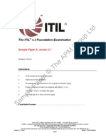 ITIL V3 Sample