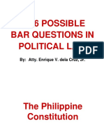 2016 Possible Bar Questions in POLITICAL LAW.ppt