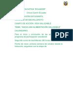 Participación estudiantil de la unidad educativa ecuador