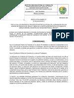 Resolucion Proceso de Matricula 2018_la consolita.pdf