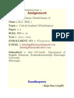 Critical Analysis of Kanthapura (2)