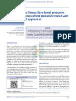 Report of a Class I Bimaxillary Dental Protrusion