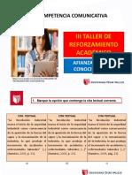 III TALLER DE REFORZAMIENTO ACADÉMICO 2016-I.pptx
