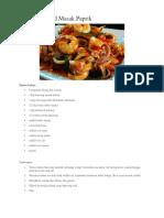 Resepi Seafood Masak Paprik