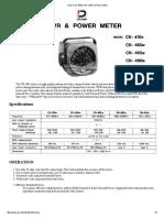 Daiwa CN-465M VHF SWR & Power Meter
