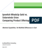 Ipswitch WhatsUp Gold vs. Solarwinds Orion Comparing Product Offerings