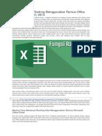 Cara Membuat Ranking Menggunakan Rumus Office Excel 2007