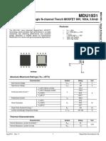 MDU1931 Datasheet - MagnaChip Semiconductor
