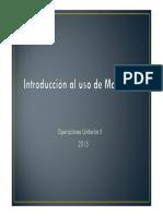 Introduccion Al Uso de Mathcad