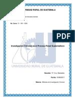 Investigacion Criminal en El Proceso Penal Guatemalteco