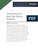 The Evolution of Next-Gen Optical Networks