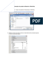 Relatório Para Elaboração Do Projeto Utilizando o SketchUp