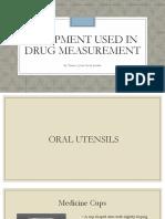 Equipment Used in Drug Measurement