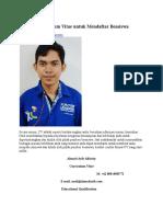 Format Curriculum Vitae Untuk Mendaftar Beasiswa