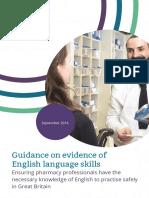 Guidance on Evidence of English Language Skills