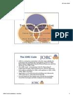 2012 JORC Code Hunter Region Branch