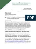 CA Farm Bureau Comments on the Draft Flow Criteria