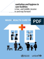 WHO - Water, Sanitation, And Hygiene in Health Care Facilities