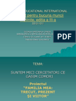 1 Proiect Educational International