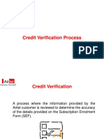 Credit Verification Process