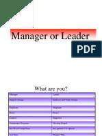Presentation- Leader or Manager