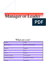 Presentation- Leader or Manager