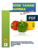 Bercocok Tanam Paprika in Greenhouse,Brosur Buku